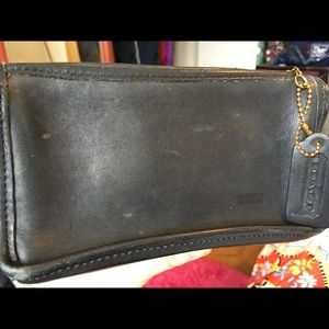 Great Black Coach vintage pouch W/ hang tag!
